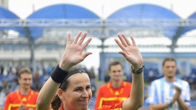 Sudí Dagmar Damková při svém posledním zápase.