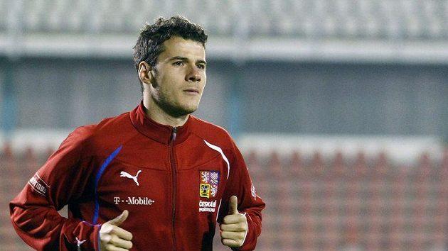 Daniel Pudil na tréninku národního týmu.