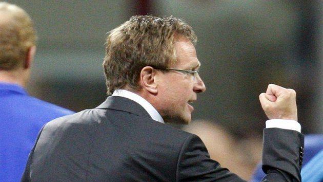 Trenér Schalke Ralf Rangnick.
