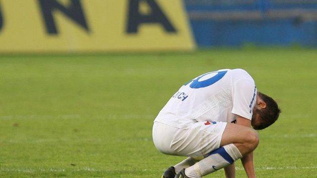 Zklamaný záložník Baníku Ostrava Tomáš Frejlach