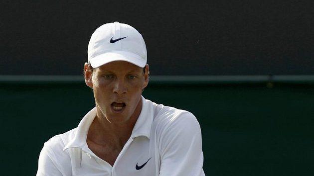 Český tenista Tomáš Berdych ve Wimbledonu