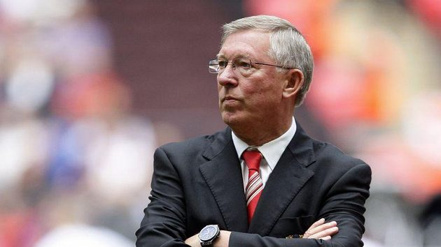 Trenér Manchesteru United Alex Ferguson.