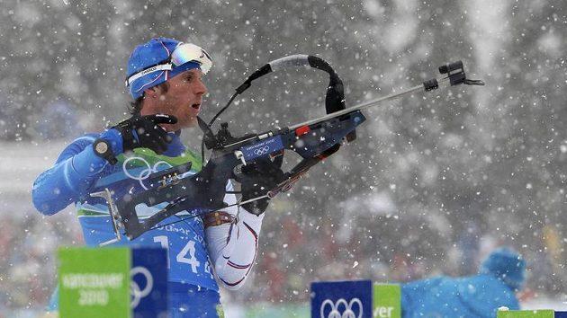 Český biatlonista Michal Šlesingr na olympijských hrách
