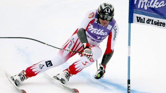 Rakouský lyžař Michael Walchhofer ve Val d´Isere