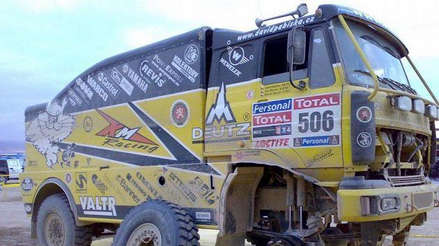 Důkladnou prohlídkou prošel při volném dnu takém kamión Liaz Martina Macíka.