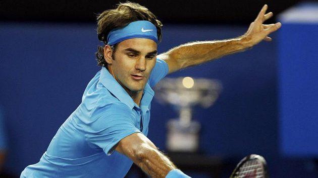 Roger Federer během finále Australian Open