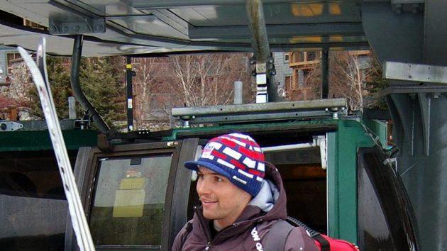 Český lyžař Petr Záhrobský