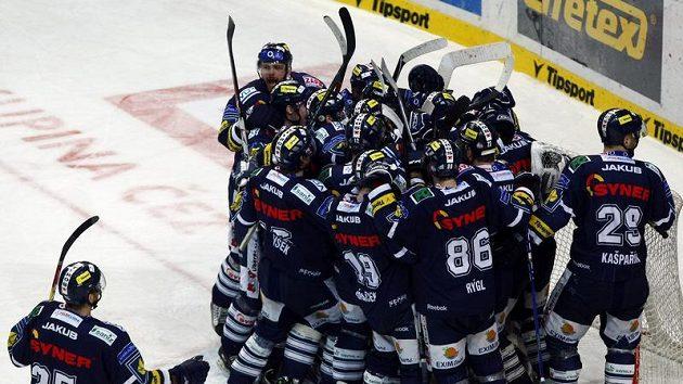 Vítězná radost hokejistů Liberce