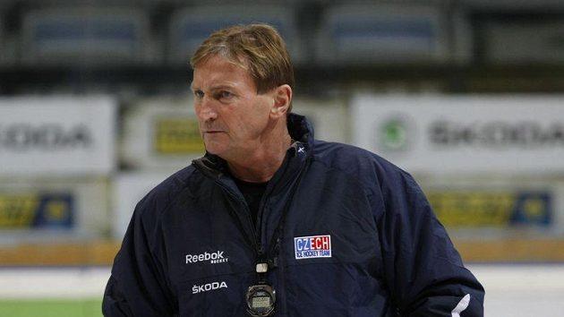 Trenér Alois Hadamczik na tréninku reprezentace