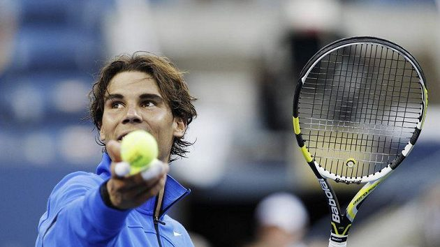 Rafael Nadal se raduje z postupu do semifinále US Open.