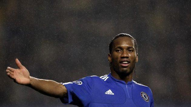 Útočník Chelsea Didier Drogba - nejdřív vyrovnal, v nastavení však neproměnil penaltu.