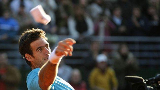 Argentinský tenista Juan Martin Del Porto se raduje po výhře nad Kazachem Kukuškinem.