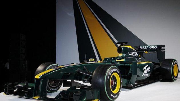 Monopost nové stáje formule 1 Lotus