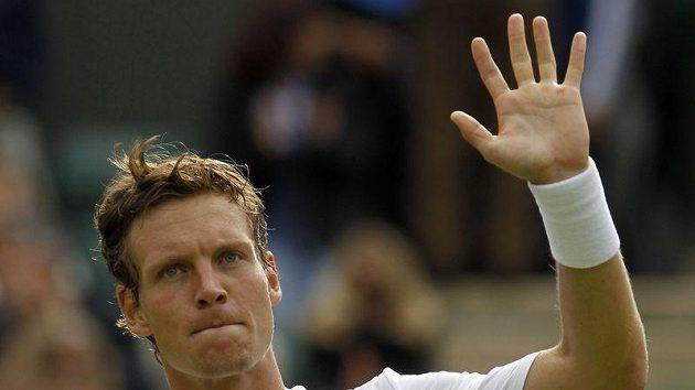 Tenista Tomáš Berdych se s Wimbledonem loučí.