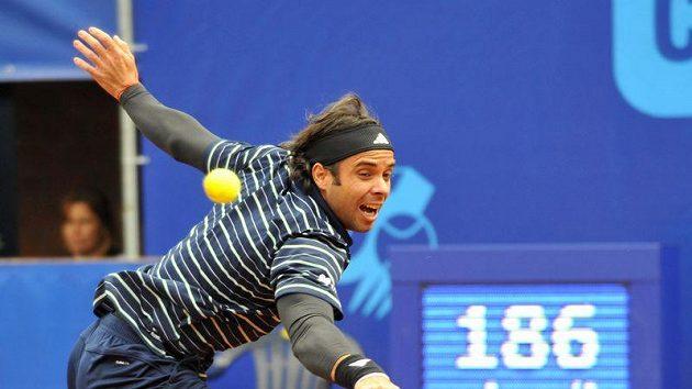 Chilský tenista Fernando Gonzalez na turnaji Prague Open