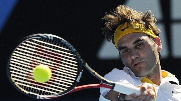 Švýcarský tenista Roger Federer na Australian Open