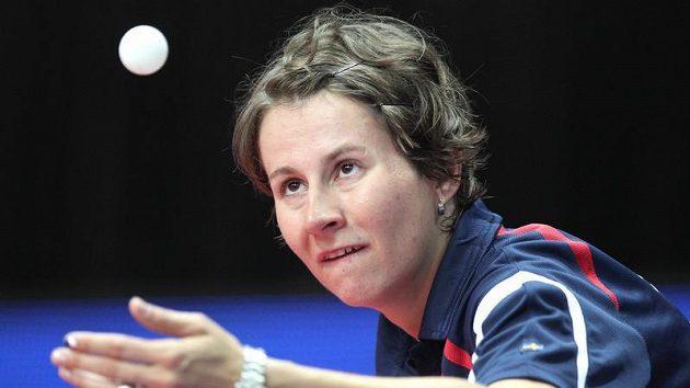 Česká reprezentantka ve stolním tenisu Renáta Štrbíková na evropském šampionátu v Ostravě.