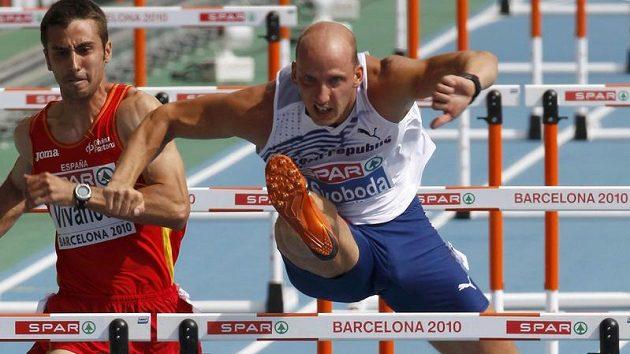 Překážkář Petr Svoboda hladce postoupil v Barceloně do semifinále.