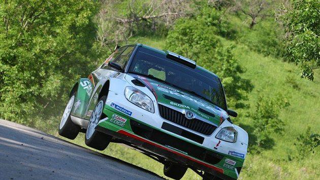 Juho Hänninen ve voze Škoda Fabia