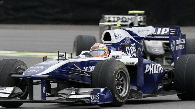 Pilto stáje Williams Nico Hülkenberg během kvalifikace GP Brazílie