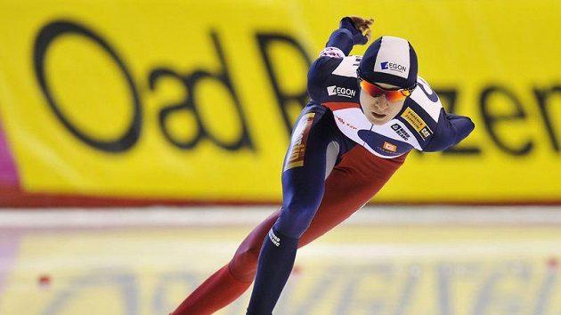 Martina Sáblíková na oválu v Calgary