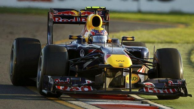 Mark Webber v monopostu stáje Red Bull během Velké ceny Austrálie