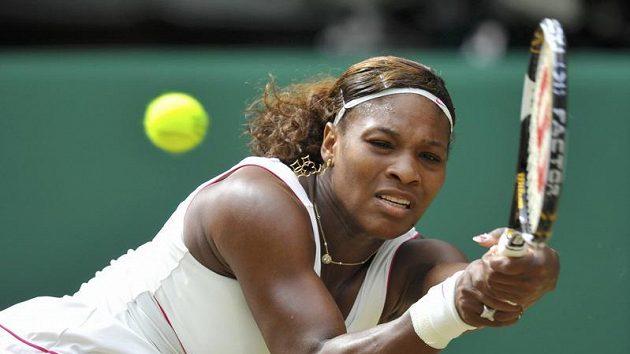 Serena Williamsová v zápase s Petrou Kvitovou