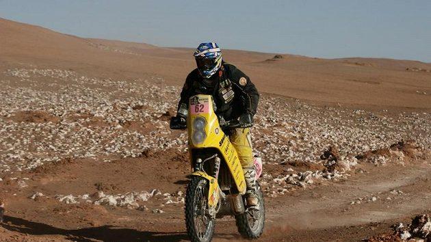 David Pabiška na trati Rallye Dakar.