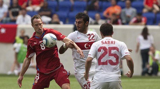 Jan Polák v zápase s Tureckem.