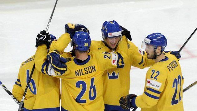 Radost švédských hokejistů