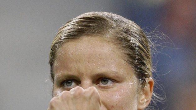 Radost Kim Clijstersové během semifinále US Open