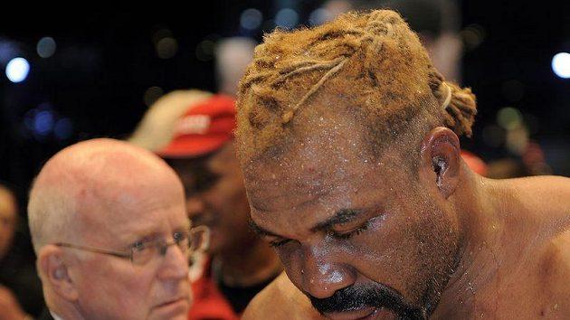 Americký boxer Shannon Briggs po utkání s Vitalijem Kličkem