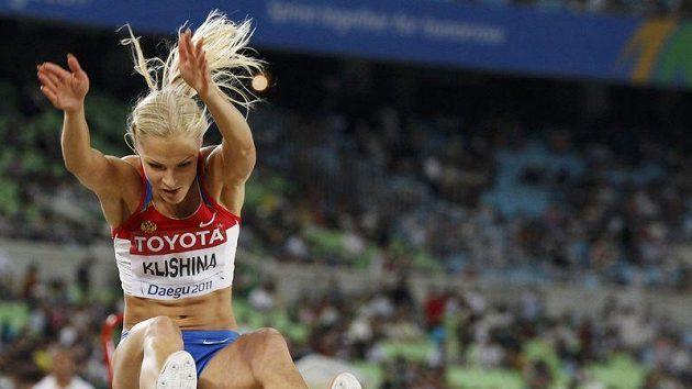 Darja Klišinová při pokusu na mistrovství světa v Tegu.