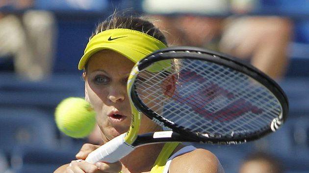 Česká tenistka Lucie Šafářová v zápase druhého kola US Open proti Američance Madison Keysové.