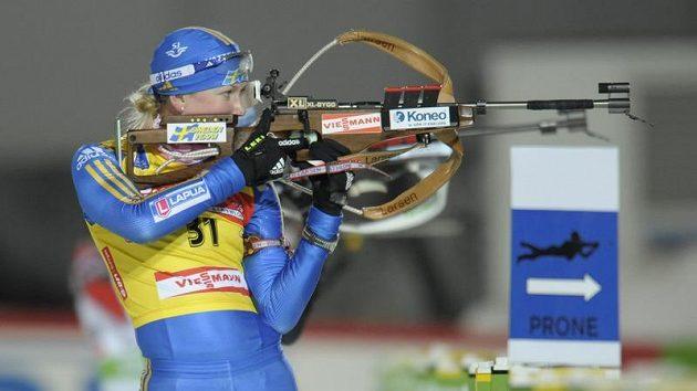 Švédská biatlonistka Helena Jonssonová v Östersundu