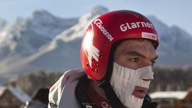 Švýcarský lyžař Tobias Grünenfelder