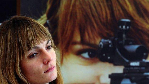 Kateřina Emmons na tiskové konferenci před finále SP