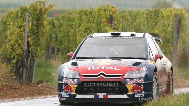 Francouz Sébastien Loeb během Francouzské rallye