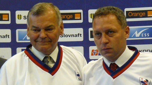 Peter Oremus coby asistent Vladimíra Vůjtka ve slovenské reprezentaci.
