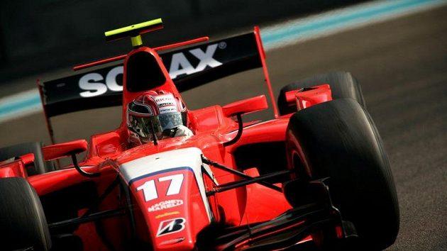 Josef Král s vozem GP2 stáje Arden při testech v Abú Zabí.