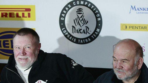 Josef Kalina (vlevo) a Karel Loprais. Dvojice, která společně triumfovala na Dakaru třikrát.