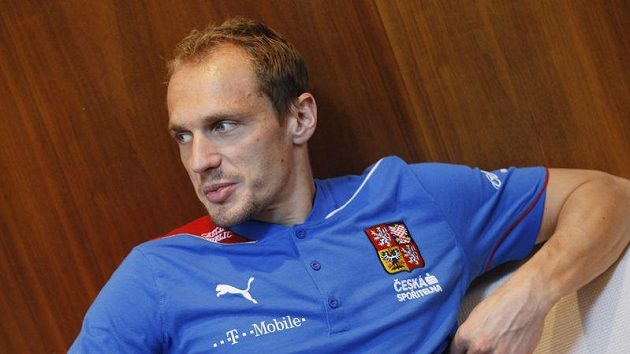 Brankář Jaroslav Drobný na reprezentačním srazu