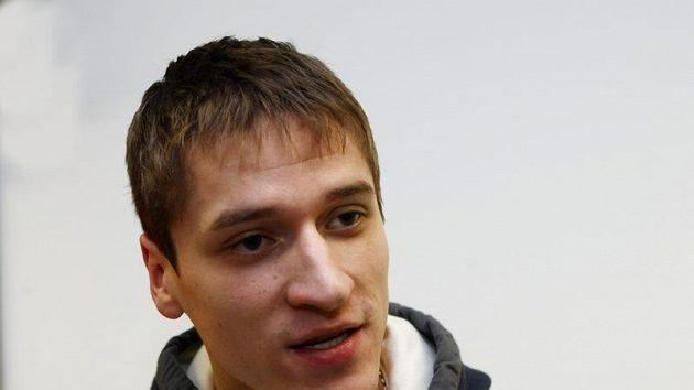Brankář Jakub Štěpánek na srazu hokejové reprezentace