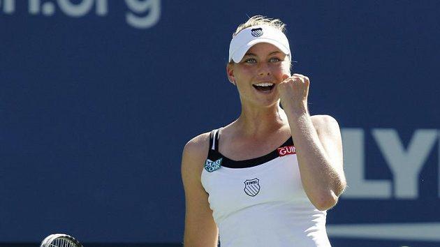 Věra Zvonarevová oslavuje postup do semifinále US Open