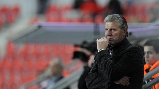 Trenér pražské Sparty Jozef Chovanec během derby proti Slavii.