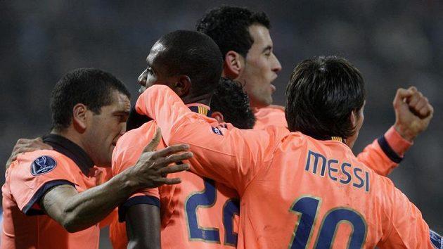 Radost fotbalistů Barcelony