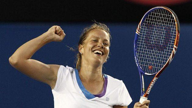 Radost tenistky Barbory Záhlavové-Strýcové na Australian Open