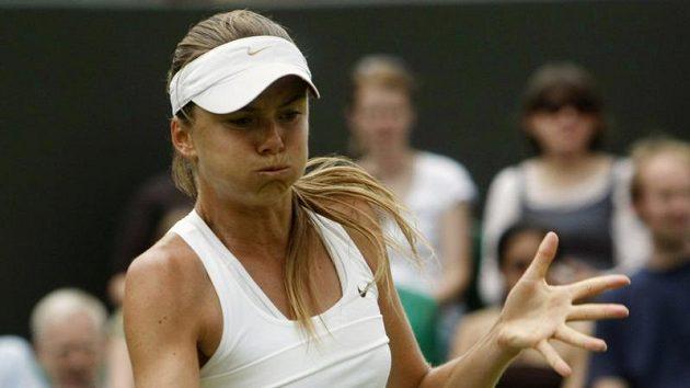 Slovenská tenistka Daniela Hantuchová během prvního kola Wimbledonu