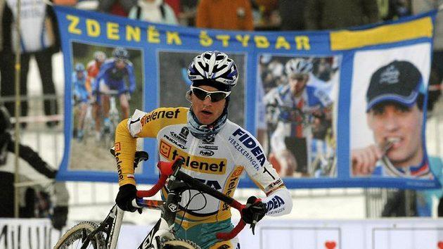 Cyklokrosař Zdeněk Štybar získal v Táboře čtvrtý titul mistra republiky.