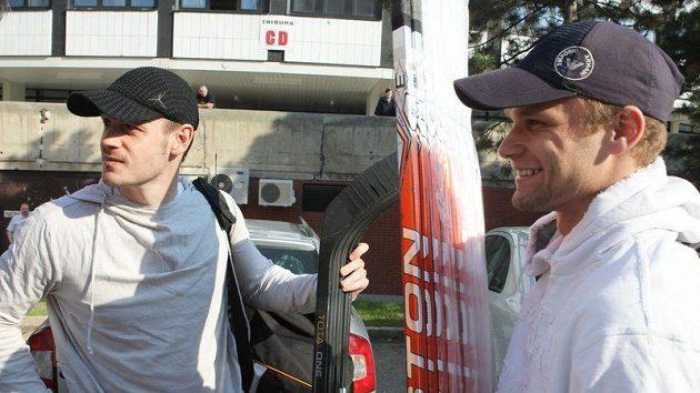 Lukáš Krajíček (vlevo) a Martin Růžička.